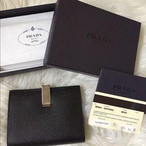 Prada Saffiano 2 bi-fold wallet